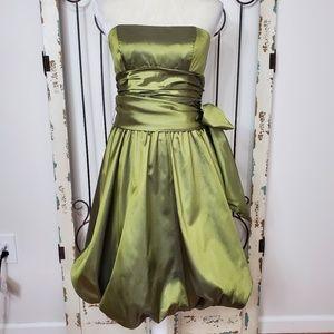 David's bridal satin formal strapless dress size 8